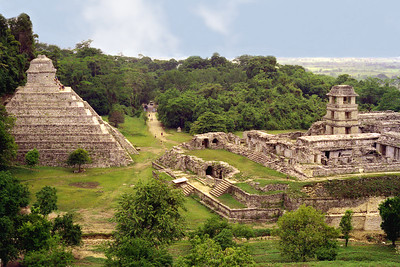 PALENQUE, MEXICO - Palenque is the Maya equivalent of Paris, the most beautiful - and to us, the most inspiring - of all the great Classic Maya cities.  Standing on the first foothills of  Sierra Madre, Palenque overlooks the broad expanse of the Chiapas plain.