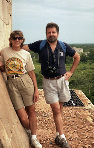 We have our good friends Gary and Nancy to thank for our interest in ancient ruins.  In 1991, they invited us to join them for a road trip across Mexico - from Tabasco, through Chiapas and the Yucatan - then provided a running commentary throughout the trip that enlightened, educated, and entertained us.