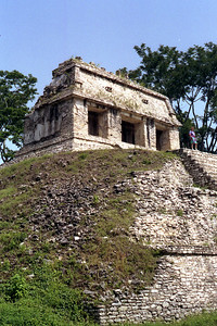 PALENQUE, MEXICO - Another view of the Temple of the Count, where Count Waldeck bunked during his stay at Palenque.  The Count was an interesting sort - best known for his rather imaginative drawings of ancient Maya sites of Palenque and Uxmal (he gave them a distinctly Egyptian flair). Waldeck was active up until his death, at the incredible age of 109 years and 45 days. He supposedly died of a heart attack (or in one account, after being hit by a carriage) while eying a beautiful woman near the Champs-Élysées in Paris.