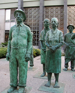 SAN JOSE, COSTA RICA - Monuments are important to Costa Rican culture - especially those that depict the common worker.
