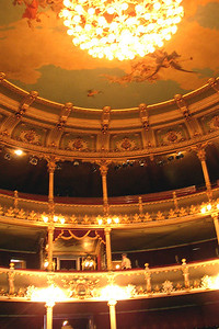 SAN JOSE, COSTA RICA - The theater's concert hall is modeled after the Paris opera house.