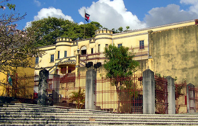 SAN JOSE, COSTA RICA - The Museo Nacional (National Museum) is housed in the Bellavista Fortress which dates from 1870.