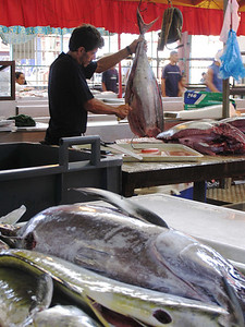 PAPEETE, TAHITI - The fish available at the market was probably caught only hours before.
