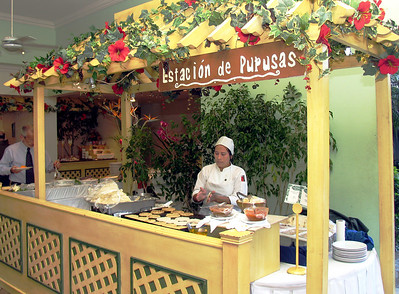 "SAN SALVADOR, EL SALVADOR - Papusas are, in fact, one of El Salvador's traditional foods.  Several of us ordered breakfast from the Estacion de Pupusas, the ""pupusa station,"" at our hotel."