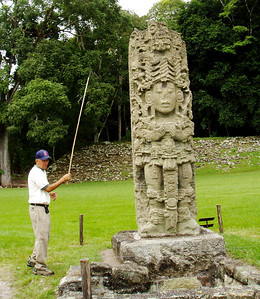 COPAN, HONDURAS - Our local guide at Copan was Jorge Arnoldo Barraza who showed us the subtle carvings on the stelae in the Great Plaza, most of which were erected between the years AD 711 and 736.