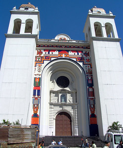 SAN SALVADOR, EL SALVADOR - Our first stop was at the Metropolitan Cathedral, built on the site of the Old San Salvador Cathedral.  When the original church was consumed by fire, construction of the new concrete and steel cathedral was begun.  But it took until 1999 to finish it.