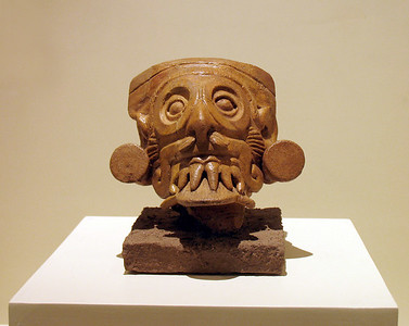 SAN SALVADOR, EL SALVADOR - On display in the National Archaeology Museum are several Mayan incense burners such as this one.