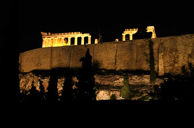 ATHENS, GREECE - There is perhaps no scene more breathtaking than a visitor's first view of the Parthenon shining like an iridescent jewel high above nighttime Athens.