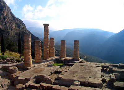 DELPHI, GREECE: THE SACRED SITE OF THE ORACLE - We entered the mystical ruins of Delphi. Some say the spirit of Apollo still drifts through the pillars of the ancient temple once inhabited by the Oracle, the priestess who sat admist vapors and muttered prophecies that often guided the course of nations.