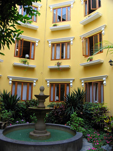 LIMA, PERU - The small hotel is built around a pleasant courtyard,