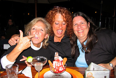 LIMA, PERU - Three of our co-travelers obviously enjoyed their deserts one evening.