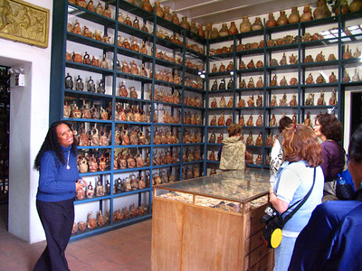 LIMA, PERU - Perhaps more intriquing than the public exhibits is the storehouse vault in the Museo Arqueologico Rafael Larco Herrera. With a local guide, we were permitted to enter the vault where hundreds of artifacts filled its shelves.