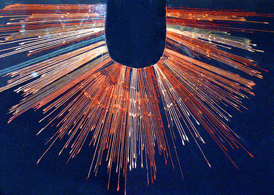 LIMA, PERU - The Museo Arqueologico Rafael Larco Herrera also houses one of the finest examples of a quipu - an intricately knotted string that the Incas used to tally the resources of their empire.  To this day, researchers are unsure of how to read them.