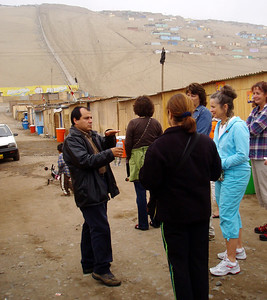 LIMA, PERU - As the local guide tried to explain the challenges of life in the shantytown, some of the difficulties were evident.  It was hard to imagine living in an area surrounded by towering, treeless sand dunes.