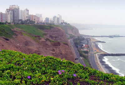 LIMA, PERU - We entered Lima during the months when the garua - an unrelenting coastal mist - hangs over the city.  Lasting as long as eight months, the mist gives the city a constant dreamlike state.