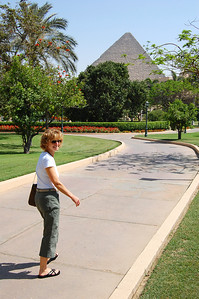 MENA HOUSE, CAIRO - Here was an urban oasis amidst the chaos of Cairo.  From our hotel room to anywhere on the grounds, we could see towering above us one of the great wonders of the world.
