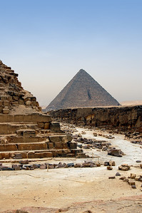 DOES SIZE MATTER?  - The third and smallest of the Giza pyramids was built by Menkaure, who was likely Khafre's son.  Why so much smaller?  Perhaps Menkaure was running out of space....