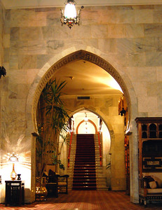 MENA HOUSE, CAIRO - The archways of the hotel corridors reflected its Turkish origins.