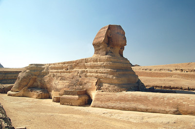 The Sphinx was the first true colossal piece of sculpture in ancient Egypt.  Egyptians would not carve statues of such proportions again until the reign of Ramesses II, some 1,200 years later.