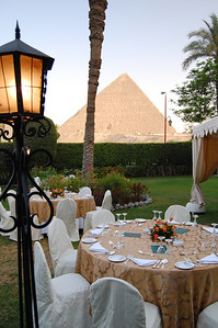 MENA HOUSE, CAIRO - Could there be a better backdrop for a party?