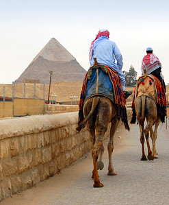 GIZA PLATEAU - One cannot possibly explore all of Giza in a single afternoon.  When we had a couple of free hours early one morning a couple of days later, Jeanne and I returned to the plateau.  We entered with the camels just as the gates opened, and for the next hour or so, we were among only a dozen or so early visitors.