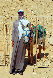 """SAQQARA - We also encountered a local entrepreneur who offered us a ride on his """"Egyptian Cadillac.""""  We declined."""