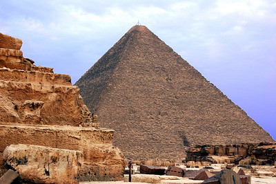 THE PINNACLE OF PYRAMIDS  – The Great Pyramid of Khufu - this is where pyramid building truly reached its pinnacle.  It may be the most photographed structure in the world, yet nothing quite prepares you for the shear size of the last surviving wonder of the ancient world, two and a half million stones stacked skyward in nearly flawless symmetry.