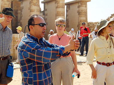 SAQQARA - It always helps to have a knowledgeable tour leader, and we had one of Egypt's best.  Amr Hassan was both an experienced guide and a trained archaeologist and Egyptologist.  He added a wealth of insights at each stop along the way, beginning here at Saqqara.