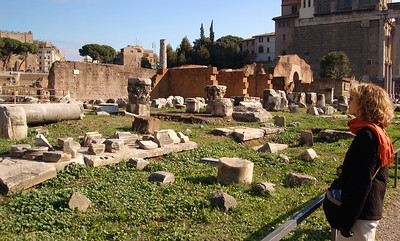 ANCIENT ROME - Today only jumbled ruins remain scattered across five or so acres - fragments of once great temples and monuments.