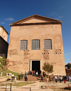 ANCIENT ROME - While the present Curia dates from AD 283, this was the site of Rome's official center of government from the birth of the republic (in 509 BC).
