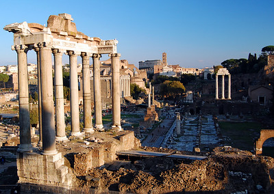 "ANCIENT ROME - Appropriately, we began our visit in Rome where the city itself began - in the heart of ""Ancient Rome"" - the Forum."