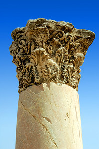 AMMAN -   The column is one of few still standing at the ruins of the Byzantine Basilica.