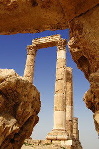 AMMAN - Larger than any temple in Rome itself, the Temple of Hercules is framed by six 33-foot tall columns.