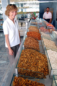 MADABA - The pastry shop sold a variety of nuts.  Jeanne bought a package of Jordan almonds for about $2.80 a pound, about a fourth what they would have cost in the U.S.