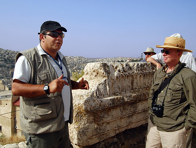 """AMMAN - We were led by our personable guide Jihad Qsar, a descendent of Bedouins.  Admittedly we were a little taken back by a Middle Easterner with the name of """"Jihad,"""" but as he explained to us, rather than """"holy war,"""" he considered the true meaning of his name to be """"hard worker."""""""