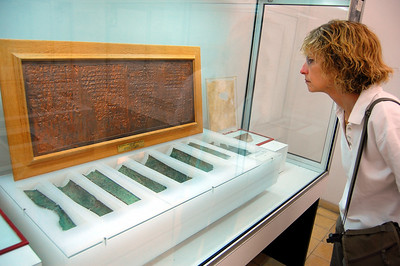 """AMMAN - The feature attraction of the museum was a display of some of the Dead Sea Scrolls (the majority are housed in Israel). Discovered between 1947 and 1956 in caves near the Dead Sea (obviously), they are ancient manuscripts of the Bible as well as commentaries and hymn books.  One of the most intriguing is the """"Copper Scroll."""" Unique among the Dead Sea scrolls, it records 64 underground hiding places throughout today's Israel that purportedly contain vast amounts of gold and silver – treasures from the Temple at Jerusalem that were hidden away for safekeeping and have yet to be found."""
