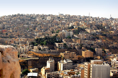 """AMMAN - We began our visit in the capital city of Amman.  Early morning is the best time to see Amman – its profusion of gleaming stone structures vividly display why it is called the """"White City.""""  Amman is one of the oldest continuously inhabited cities in the world. Its modern buildings blend with the ancient."""