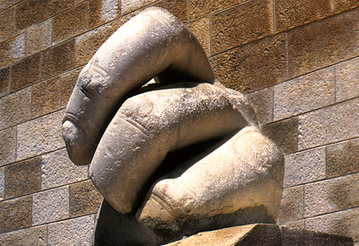 AMMAN - These fingers - nearly three feet high - greet visitors to the Jordan Archaeological Museum.  They are the only fragment so far discovered from what must have been a massive ancient statute.