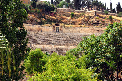 AMMAN - From Citadel Hill, we traveled down into the center of Amman for a closer look at the Roman theater.  Surrounded by a small wooded park, the amphitheater is a surprisingly quiet oasis in the middle of bustling Amman.