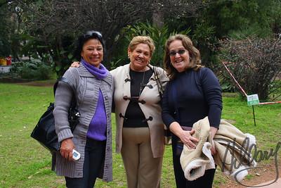 Celia, Jenilda, and Nadir, from Brasilia, Brazil in the Botanical Gardens.