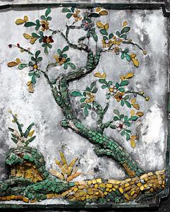 BANGKOK - More of Wat Arun's intricate porcelain inlays.