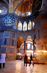 "ISTANBUL - Upon seeing the massive sanctuary of the Hagia Sophia with its enormous dome, the magnificent stained glass windows, and golden tile mosaics, the emperor Justinian exclaimed, ""Oh Solomon! I have outdone you!"""