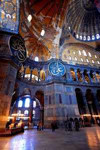 ISTANBUL - As impressive as the Hagia Sophia is on the outside, it is the interior that overwhelms.  For nearly a thousand years, this was the largest enclosed space in the world.  Even today, 1400 years after it was built, it is awe-inspiring.