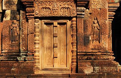 Scarcely an inch of Banteay Srei is left unadorned.