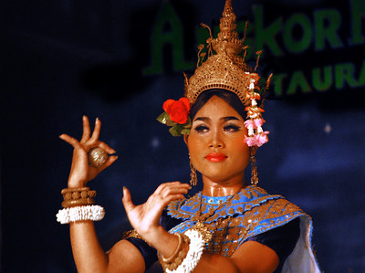 Our first evening in Siem Reap, we attended an exhibition of Khmer Classical Dance.