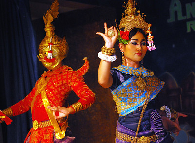 "Khmer dance was once known as robam preah reachea trop or ""dances of royal wealth."