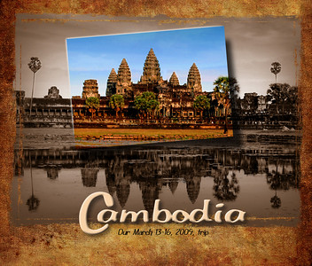 This is a photo travel log of our brief 4-day excursion into Cambodia following our stay in Vietnam.  All four days would be spent in and around Siem Reap, the town closest to Cambodia's chief attraction: Angkor Wat.