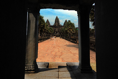Exiting the West Portico, the drama builds as we see the towers of Angkor Wat clearly for the first time. But as in any good theatrics, the suspense must be allowed to build.