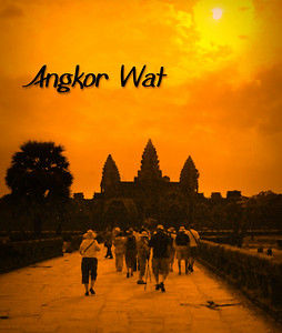 ANGKOR WAT - Its outline was unmistakable, giant stone spires symbolizing the revered Mount Meru of Hindu myth, depicted in virtually every book of ancient ruins, sketched , painted, and photographed a million times over.  Yet our first sight of the temple-mountains of Angkor Wat was still awe-inspiring.
