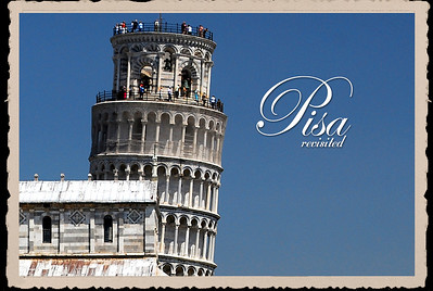 In 2007 Pisa was veiled in grey, overhanging clouds.  In 2009 the weather was much different...